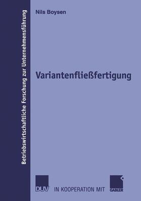 Boysen | Variantenfließfertigung | Buch | sack.de
