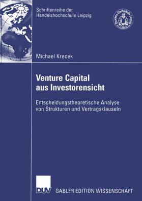 Krecek | Venture Capital aus Investorensicht | Buch | sack.de