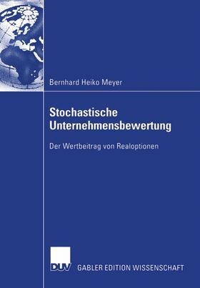 Meyer   Stochastische Unternehmensbewertung   Buch   sack.de