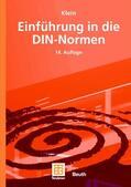 Klein / DIN Deutsches Institut für Normung e.V.    Einführung in die DIN-Normen   Buch    Sack Fachmedien