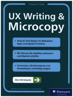 Yifrah   UX Writing & Microcopy   Buch   sack.de
