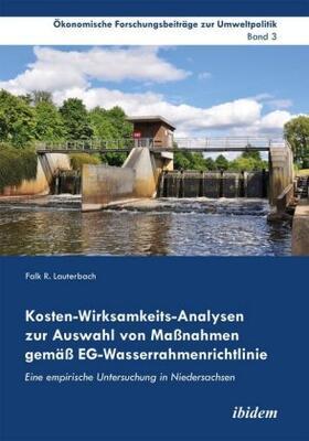 Lauterbach | Kosten-Wirksamkeits-Analysen zur Auswahl von Maßnahmen gemäß EG-Wasserrahmenrichtlinie | Buch | sack.de