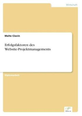 Erfolgsfaktoren des Website-Projektmanagements   Buch   sack.de