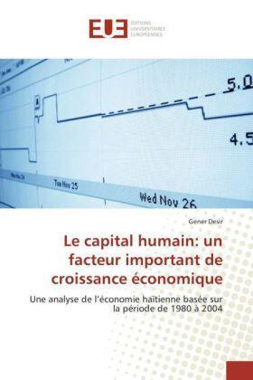 Le capital humain: un facteur important de croissance économique | Buch | sack.de