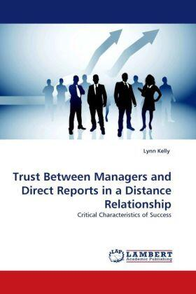 Trust Between Managers and Direct Reports in a Distance Relationship   Buch   sack.de