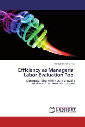 Pankratov | Efficiency as Managerial Labor Evaluation Tool | Buch | sack.de
