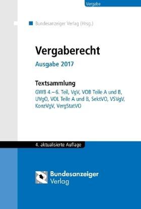 Vergaberecht, Ausgabe 2017 | Buch | Sack Fachmedien