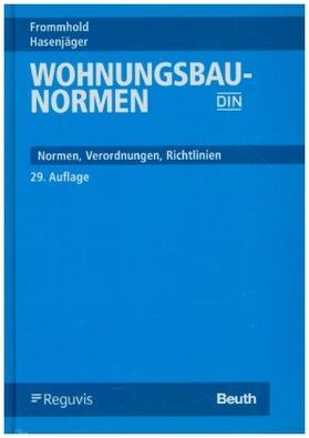 Frommhold / Hasenjäger   Wohnungsbau-Normen   Buch   sack.de