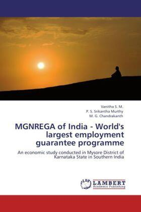 Vanitha / Murthy / Chandrakanth | MGNREGA of India - World's largest employment guarantee programme | Buch | sack.de