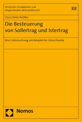Knöller   Die Besteuerung von Sollertrag und Istertrag   Buch   sack.de