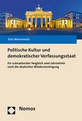 Mannewitz |  Politische Kultur und demokratischer Verfassungsstaat | Buch |  Sack Fachmedien