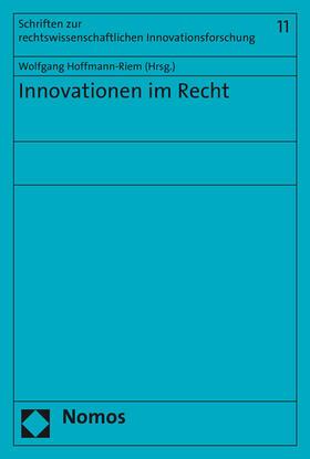 Hoffmann-Riem | Innovationen im Recht | Buch | sack.de