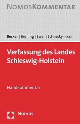 Becker / Brüning / Ewer | Verfassung des Landes Schleswig-Holstein | Buch | sack.de