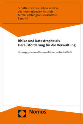 Pünder / Klafki   Risiko und Katastrophe als Herausforderung für die Verwaltung   Buch   sack.de