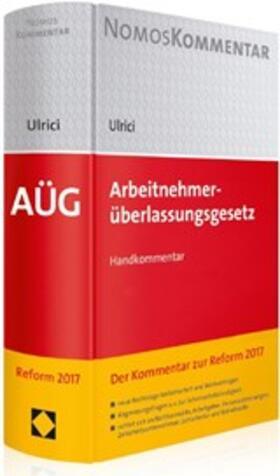 Ulrici   Arbeitnehmerüberlassungsgesetz: AÜG   Buch   sack.de
