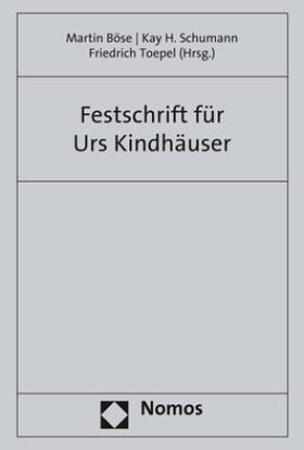 Böse / Schumann / Toepel | Festschrift für Urs Kindhäuser | Buch | sack.de