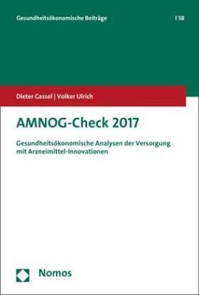Cassel / Ulrich | AMNOG-Check 2017 | Buch | sack.de