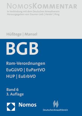 Hüßtege / Mansel   BGB    Buch   sack.de