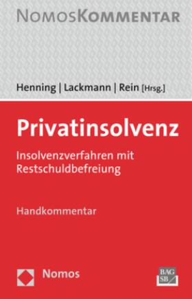 Henning / Lackmann / Rein   Privatinsolvenz   Buch   sack.de
