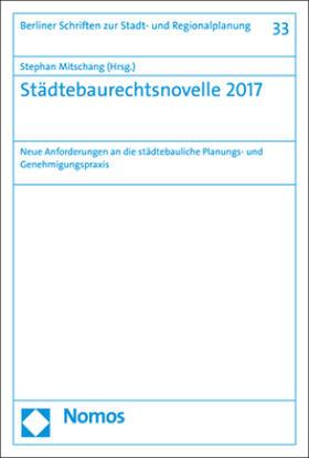 Mitschang   Städtebaurechtsnovelle 2017   Buch   sack.de