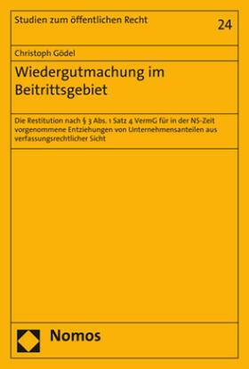 Gödel | Wiedergutmachung im Beitrittsgebiet | Buch | sack.de