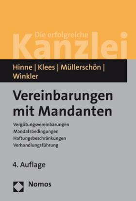 Hinne / Klees / Müllerschön | Vereinbarungen mit Mandanten | Buch | sack.de