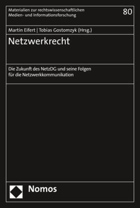 Eifert / Gostomzyk | Netzwerkrecht | Buch | sack.de