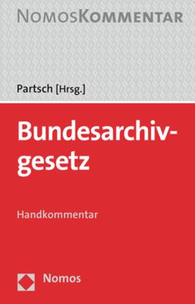 Partsch   Bundesarchivgesetz    Buch   sack.de