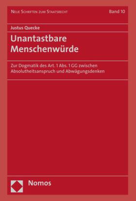 Quecke | Unantastbare Menschenwürde | Buch | sack.de