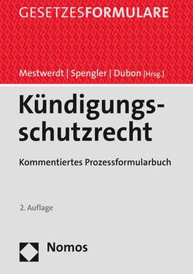 Mestwerdt / Spengler / Dubon   Kündigungsschutzrecht   Buch   sack.de