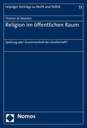 de Maizière   Religion im öffentlichen Raum   Buch   sack.de