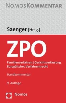 Saenger | ZPO: Zivilprozessordnung  | Buch | sack.de