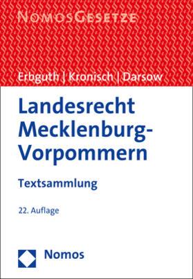 Erbguth / Kronisch / Darsow   Landesrecht Mecklenburg-Vorpommern   Buch   sack.de