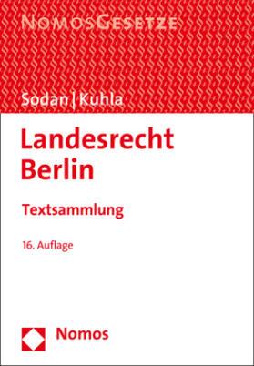 Sodan / Kuhla   Landesrecht Berlin   Buch   sack.de