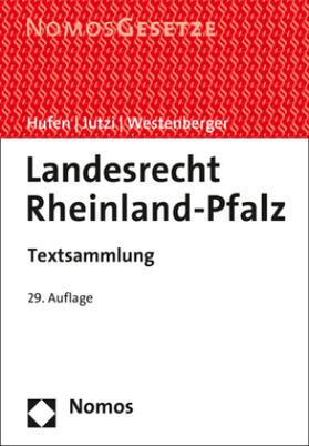 Hufen / Jutzi / Westenberger | Landesrecht Rheinland-Pfalz | Buch | sack.de