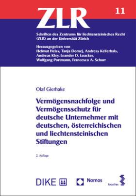 Gierhake | Vermögensnachfolge und Vermögensschutz für deutsche Unternehmer mit deutschen, österreichischen und liechtensteinischen Stiftungen | Buch | sack.de
