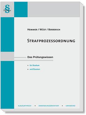 Hemmer / Wüst / Berberich | Strafprozessordnung | Buch | sack.de
