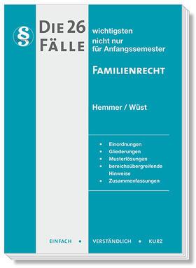 Hemmer / Wüst / Merklein | Die 26 wichtigsten Fälle Familienrecht | Buch | sack.de