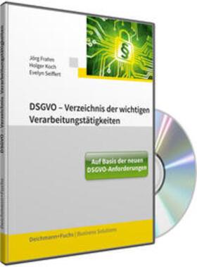 Frahm / Koch / Seiffert   CD-ROM DSGVO-Verzeichnis der wichtigen Verarbeitungstätigkeiten, mit Fortsetzungsbezug   Sonstiges   sack.de