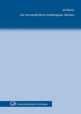 Messer | Die Verständlichkeit multilingualer Normen | Buch | sack.de