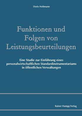 Holtmann | Funktionen und Folgen von Leistungsbeurteilungen | Buch | sack.de