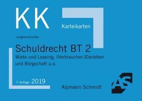 Langkamp / Lüdde   Karteikarten Schuldrecht BT 2   Buch   sack.de