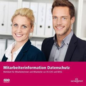 Mitarbeiterinformation Datenschutz | Buch | Sack Fachmedien