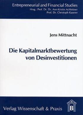 Mittnacht | Die Kapitalmarktbewertung von Desinvestitionen | Buch | sack.de