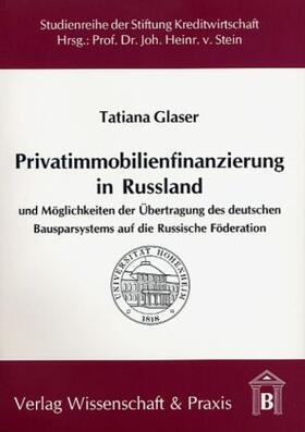 Glaser | Privatimmobilienfinanzierung in Russland | Buch | sack.de