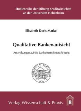 Markel | Qualitative Bankenaufsicht. | Buch | sack.de