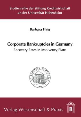 Flaig   Corporate Bankruptcies in Germany.   Buch   sack.de