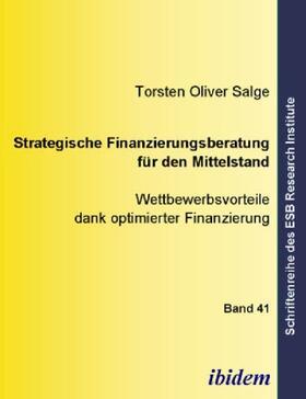 Salge   Strategische Finanzierungsberatung für den Mittelstand   Buch   sack.de