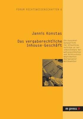 Konstas | Das vergaberechtliche Inhouse-Geschäft | Buch | sack.de