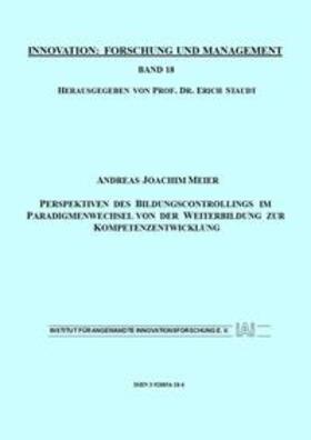 Meier / Staudt | Perspektiven des Bildungscontrollings im Paradigmenwechsel von der Weiterbildung zur Kompetenzentwicklung der Weiterbildung zur Kompetenzentwicklung | Buch | sack.de